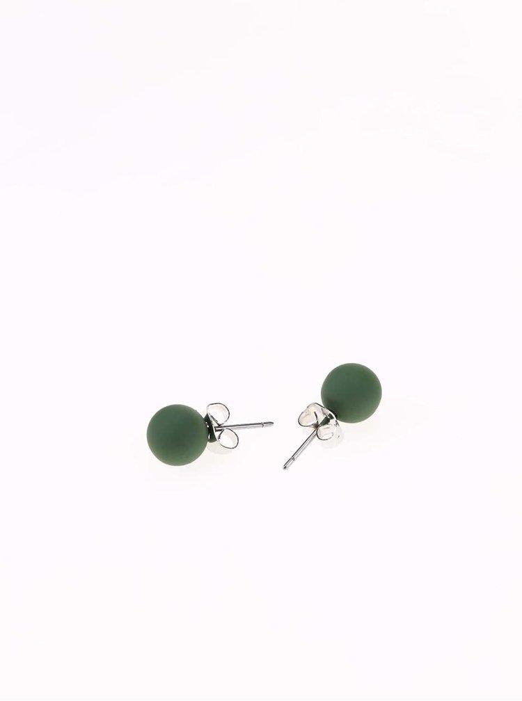 Cercei verde mat Pieces Junni