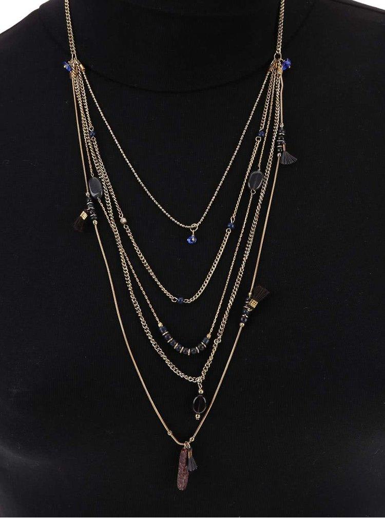 Colier cascadă auriu Pieces Nuhana