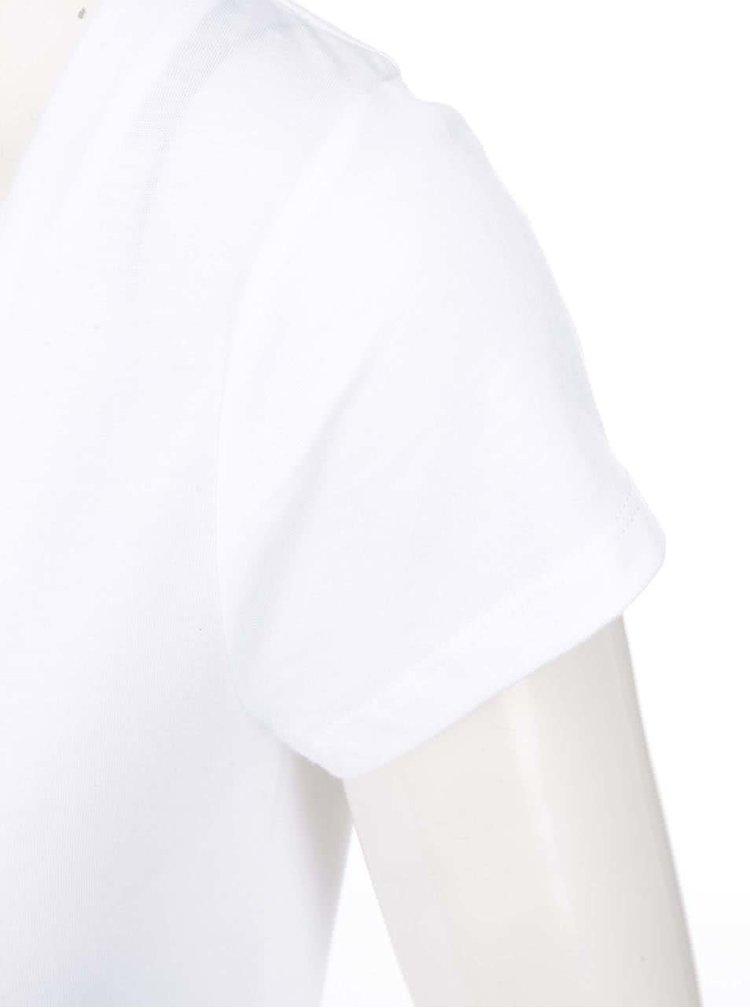 Tricou alb cu mânecă scurtă Desigual Arsen