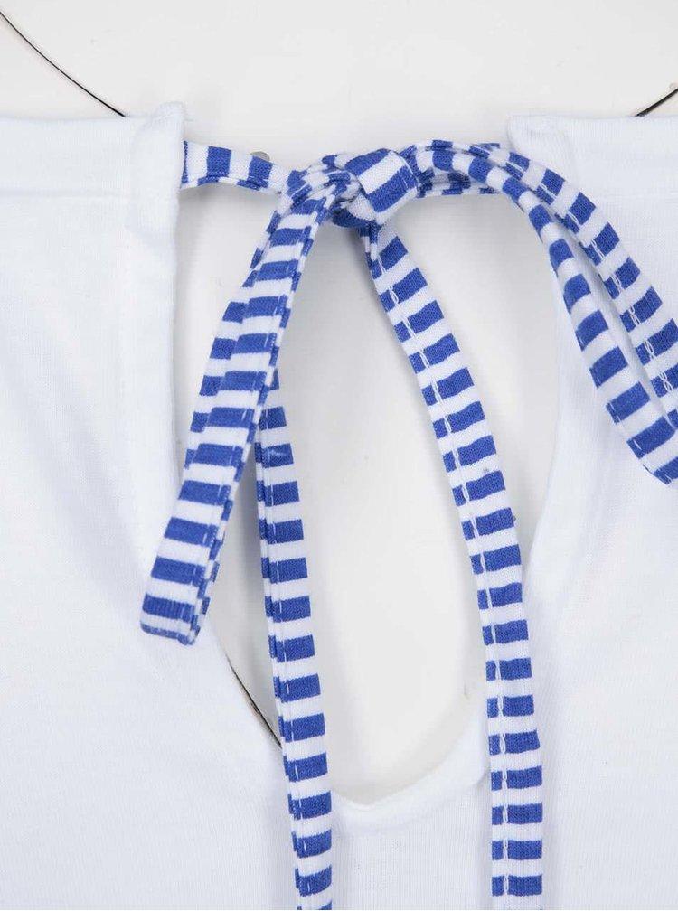 Biele tričko s krátkym rukávom Desigual Arsen