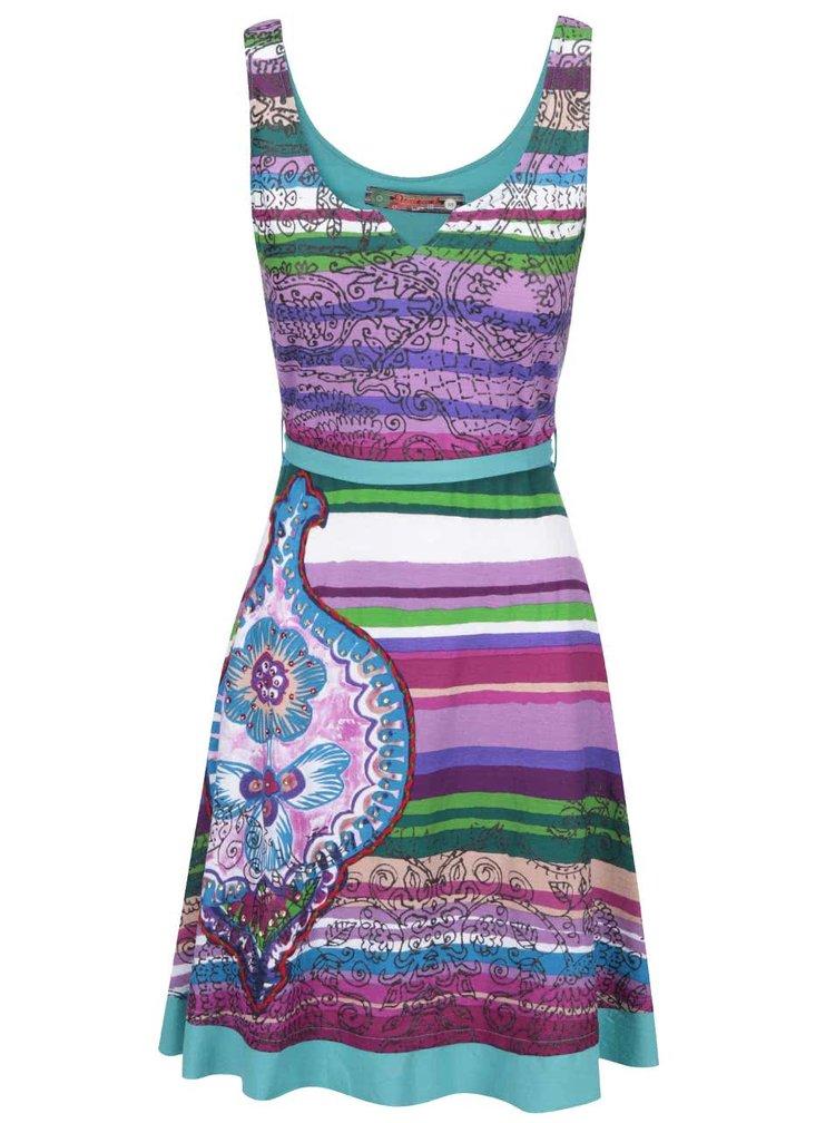 Rochie dungata multicolora cu funda Desigual Judith