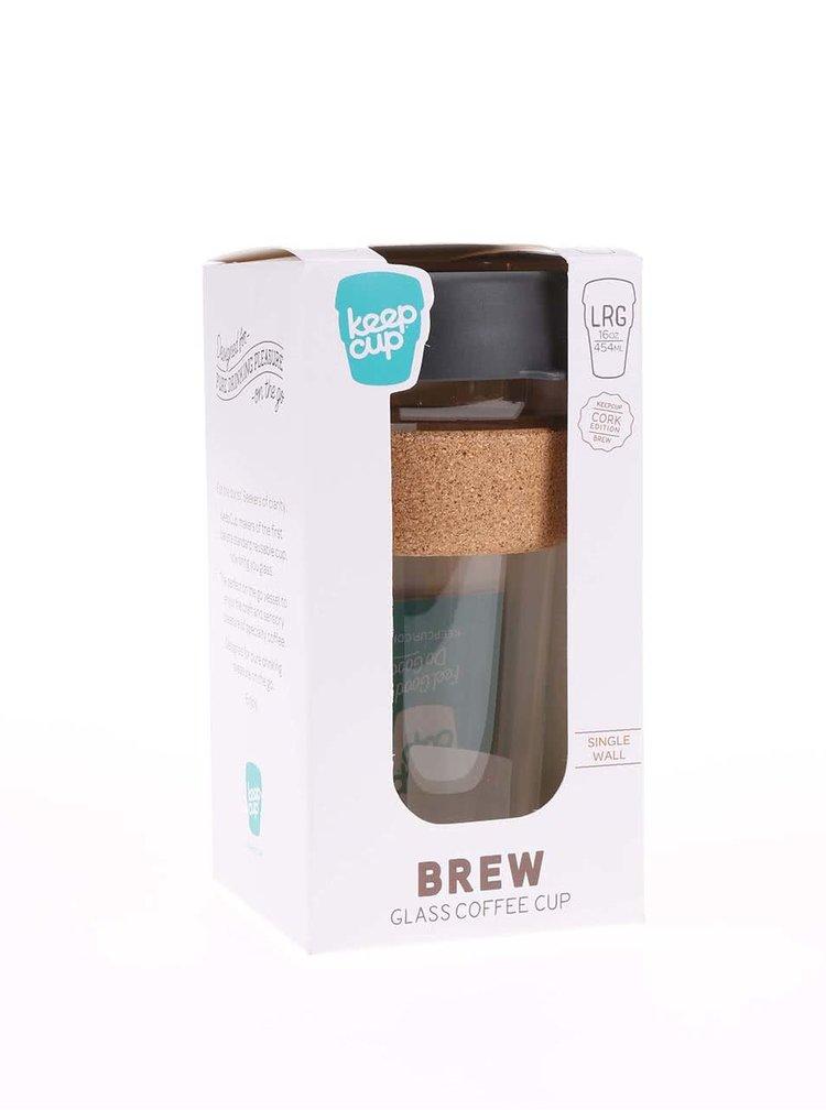 Designový cestovní skleněný hrnek KeepCup Brew Press Large