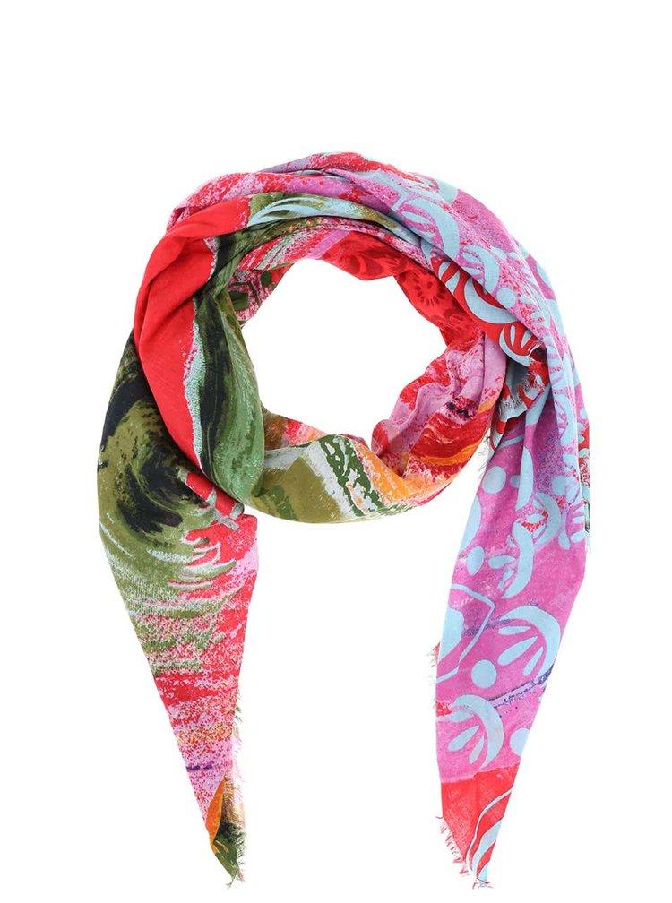 Barevný vzorovaný šátek Desigual Bondi