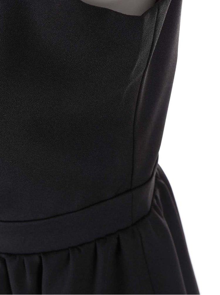 Černé šaty se zdobeným dekoltem Little Mistress