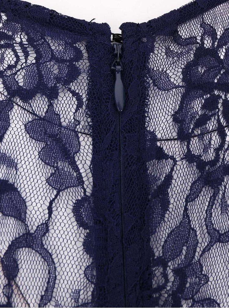 Modré maxišaty s krátkym rukávom Little Mistress