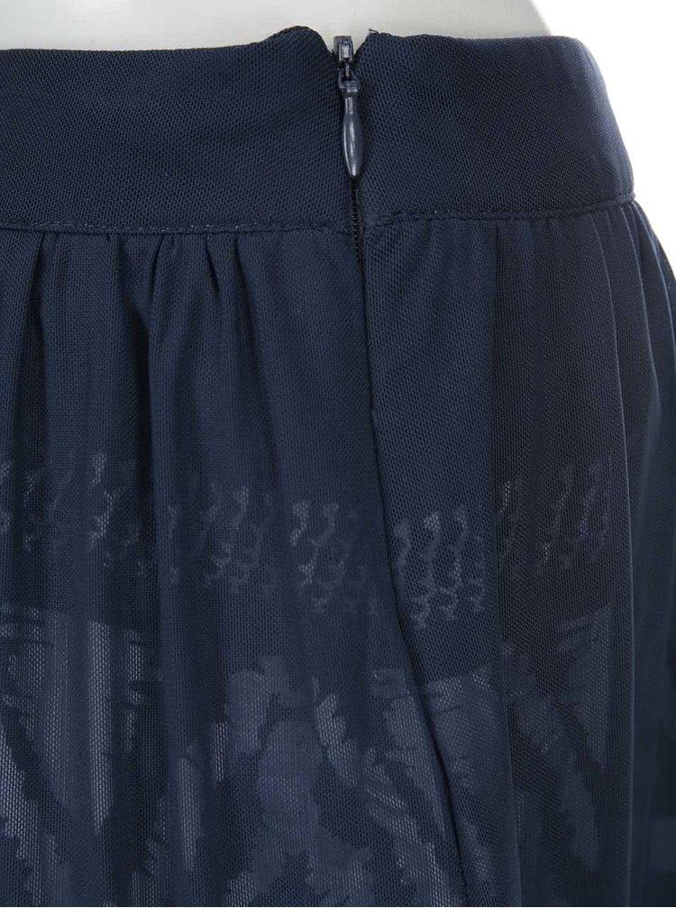 Modrá šifonová sukně Desigual Aetos