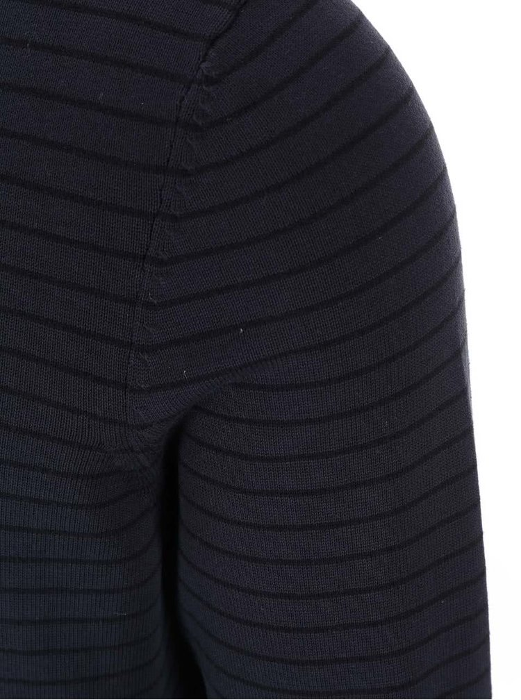 Tmavě modrý pánský pruhovaný svetr s.Oliver