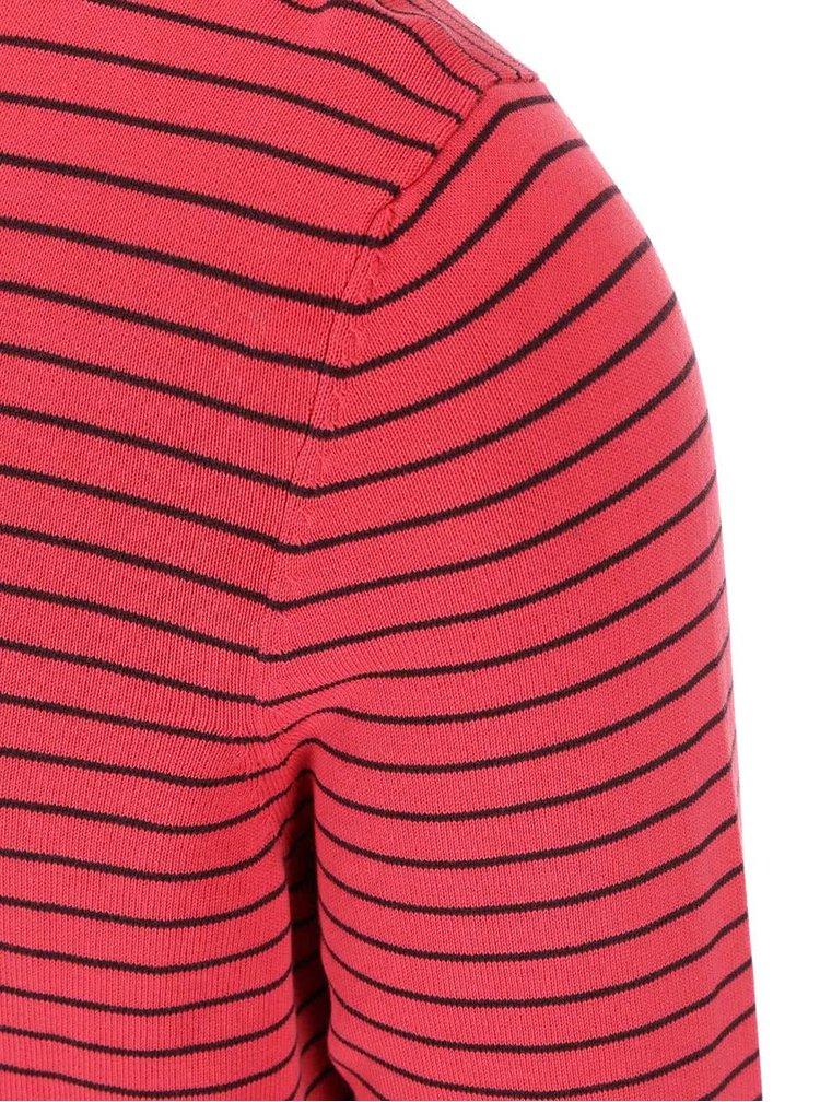 Pulover bărbătesc roșu cu dungi s.Oliver