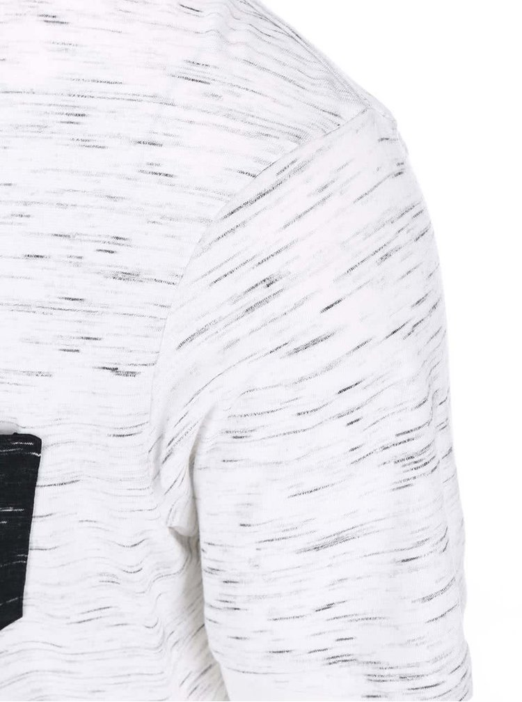 Tricou gri bărbătesc cu buzunar la piept Selected Homme Indi
