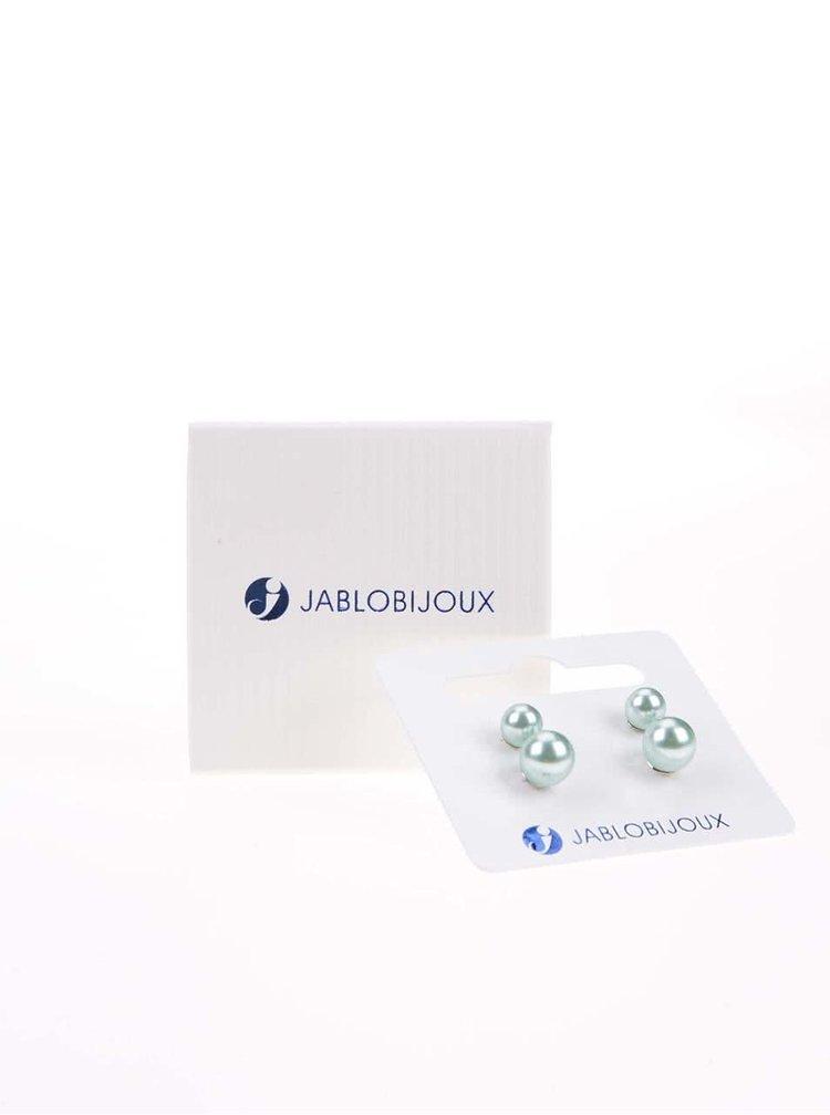 Súprava dvoch párov svetlozelených náušníc Jablobijoux