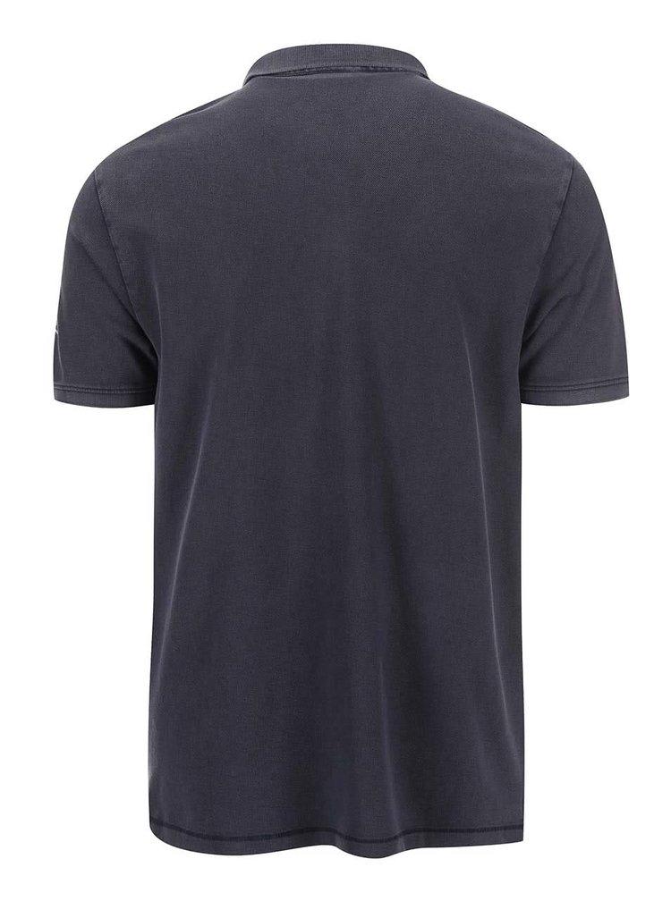 Modrošedé pánské polo triko s.Oliver