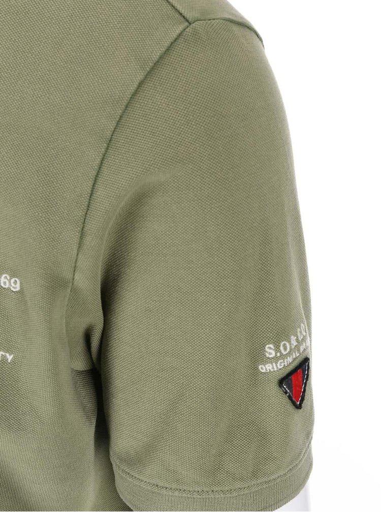 Zelené pánské polo triko s.Oliver