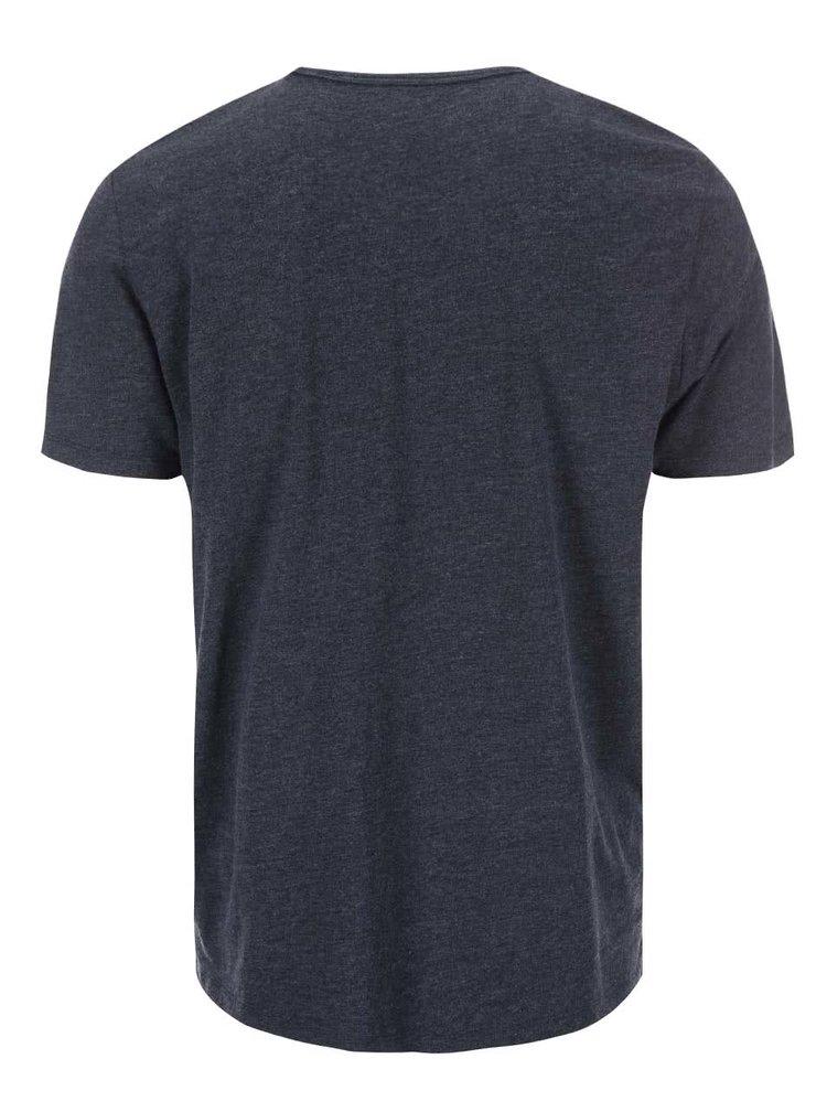 Tricou bărbătesc albastru imprimat s.Oliver