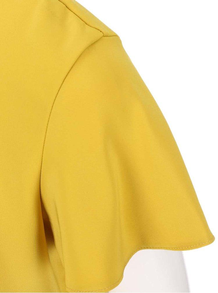 Žlutá halenka s vykrojenými zády Dorothy Perkins