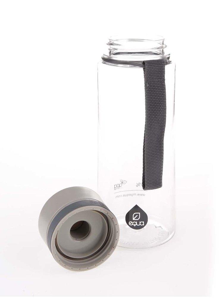 Šedá plastová láhev EQUA (600ml)