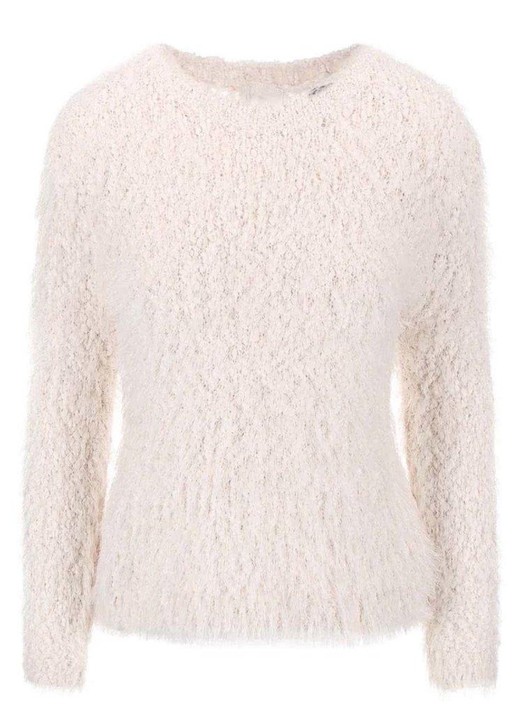 Krémový sveter so zipsom na chrbte Haily's Amy