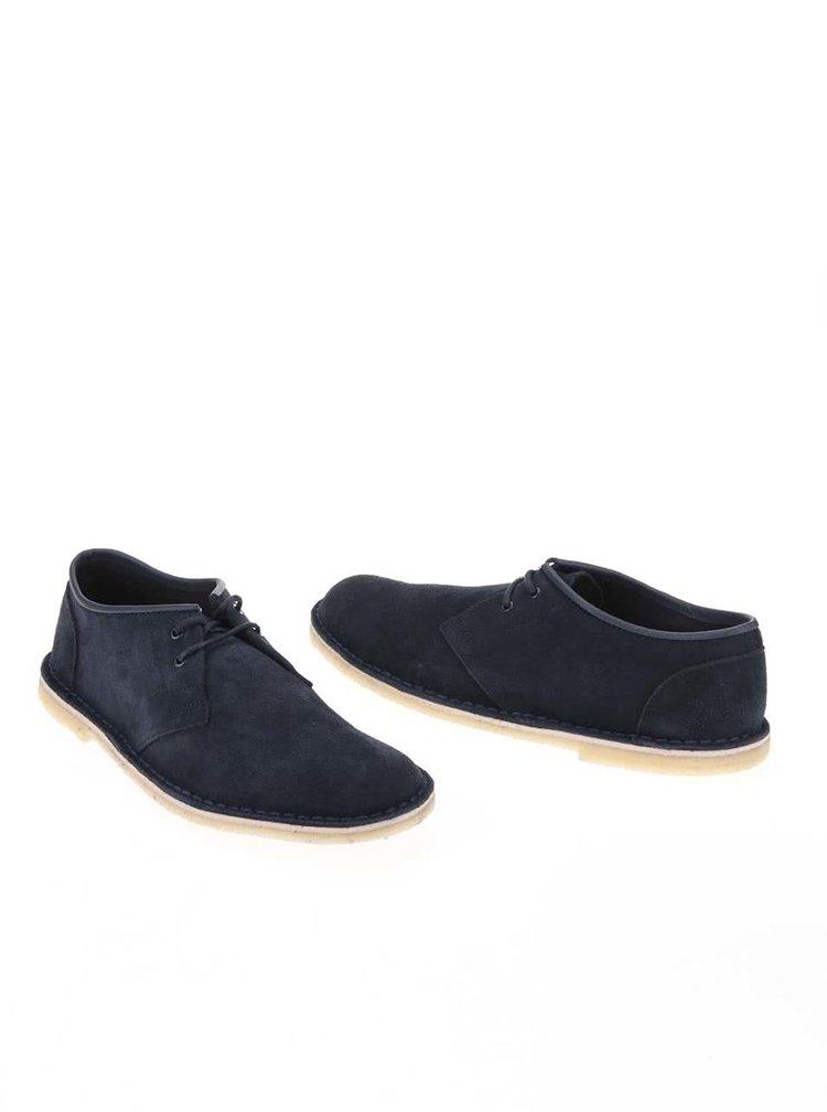 Pantofi bărbătești albaștri din piele Clarks Jink