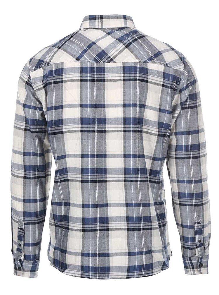 Krémovo-modrá kostkovaná košile Blend