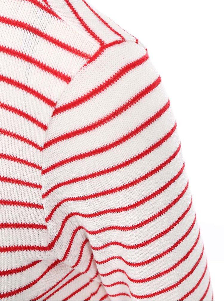 Červeno-bílý asymetrický pruhovaný top VERO MODA Mana