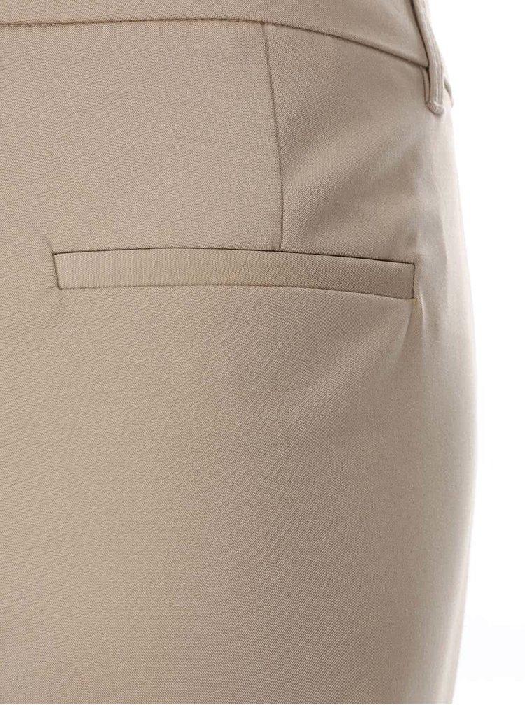 Béžové kalhoty VERO MODA Ida