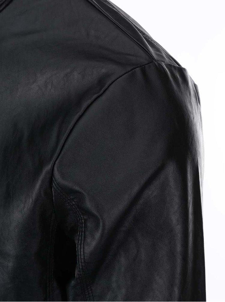 Čierna koženková bunda Blend