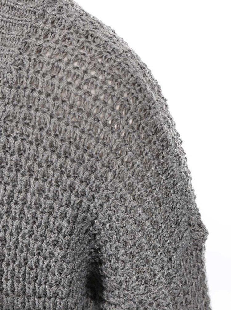 Šedý pletený kadrigan ONLY Emma