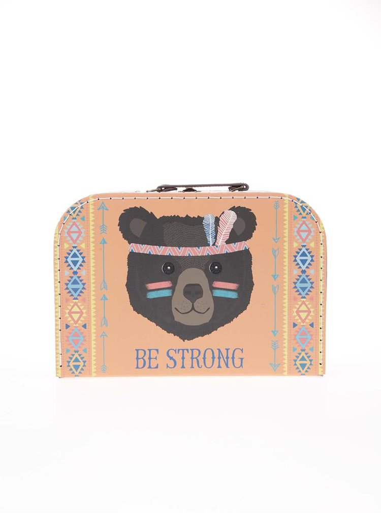 Set de trei valize colorate Tribal Adventure de la Sass & Belle