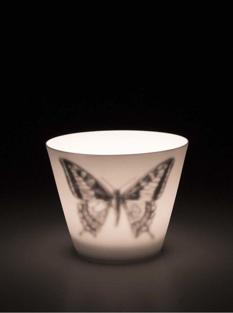 Biely kalíšok na sviečku Sass & Belle Butterfly