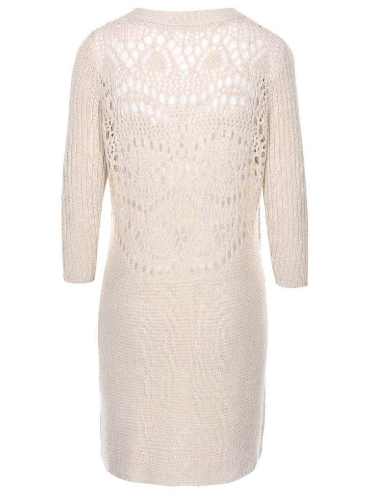 Béžové svetrové šaty ONLY Malin