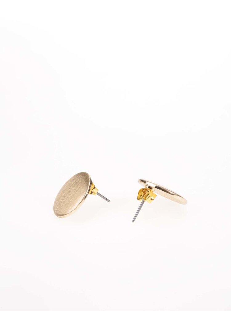 Kulaté náušnice v zlaté barvě Pieces Miebe