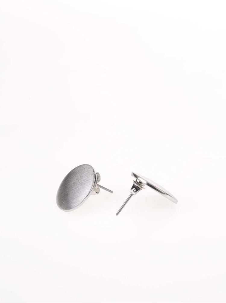 Cercei argintii Pieces Miebe cu formă rotundă