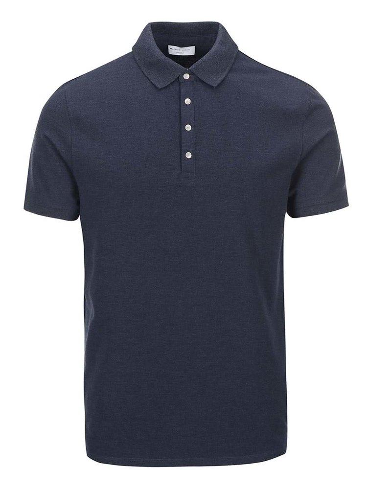 Modré polo triko Selected Homme Dawson