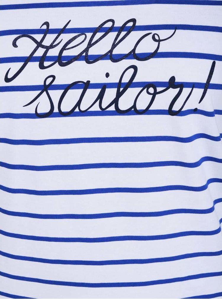 "Tricou de dama ZOOT Original ""Hello Sailor"" in dungi"