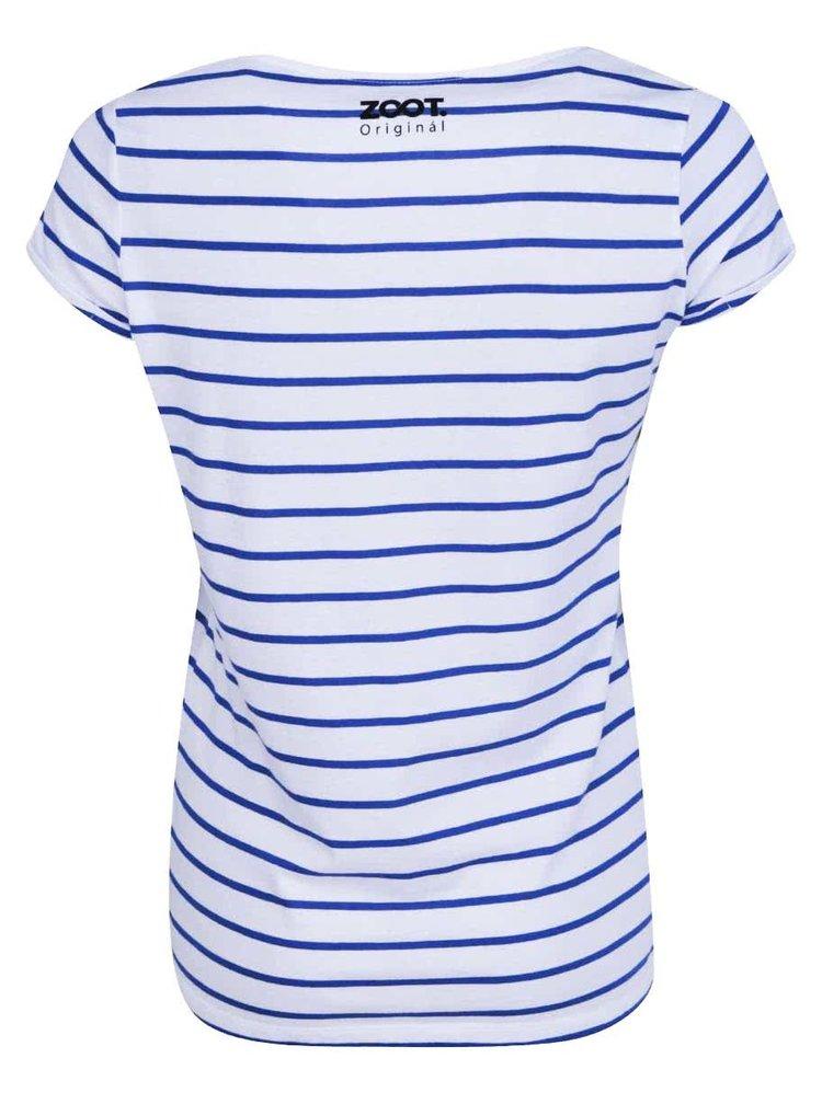 Modro-biele prúžkované dámske tričko ZOOT Originál Hello Sailor