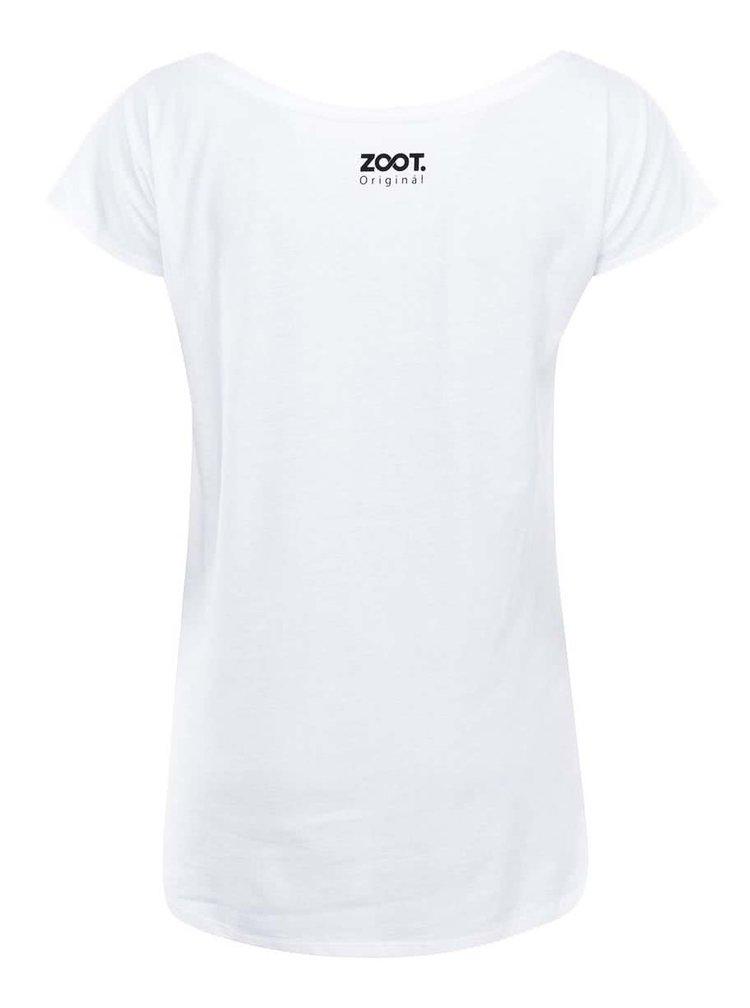 Bílé dámské tričko ZOOT Originál Hodný holky jdou do nebe
