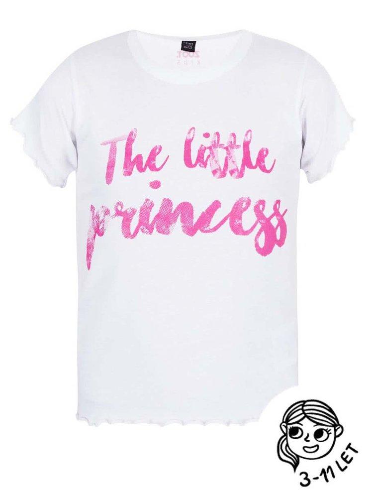 Bílé holčičí tričko ZOOT Kids The little princess