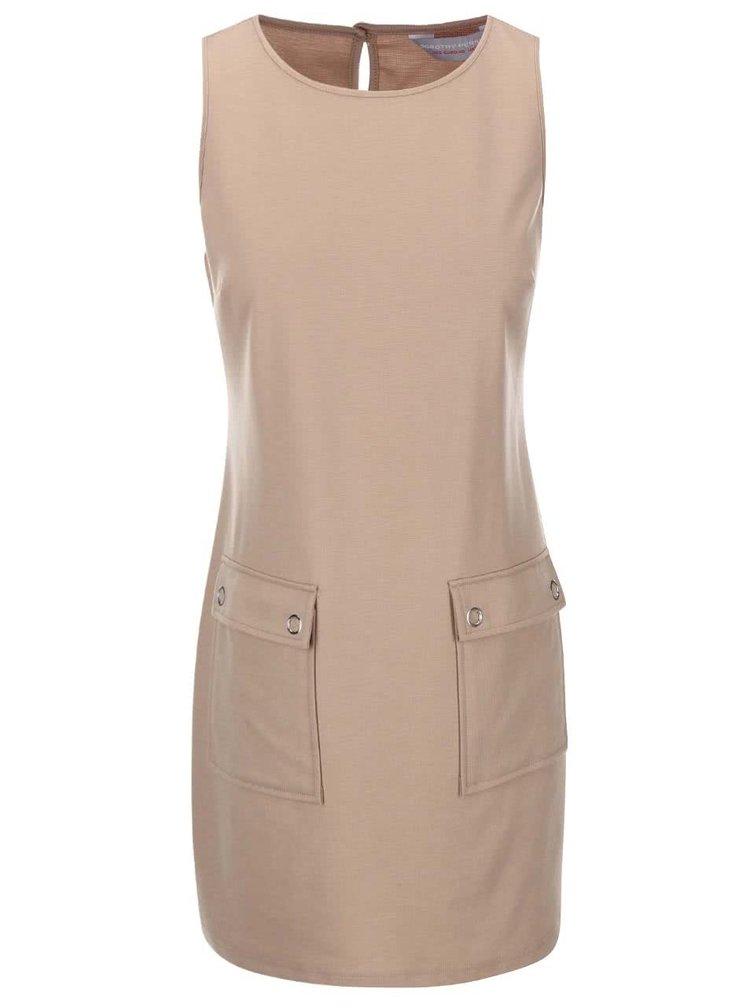Béžové šaty s vreckami Dorothy Perkins