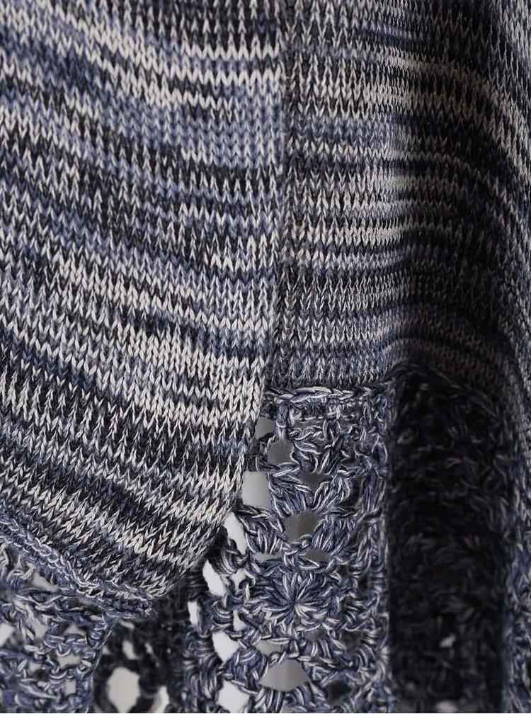 Sivo-modrý kardigan so strapcami ONLY Ibi