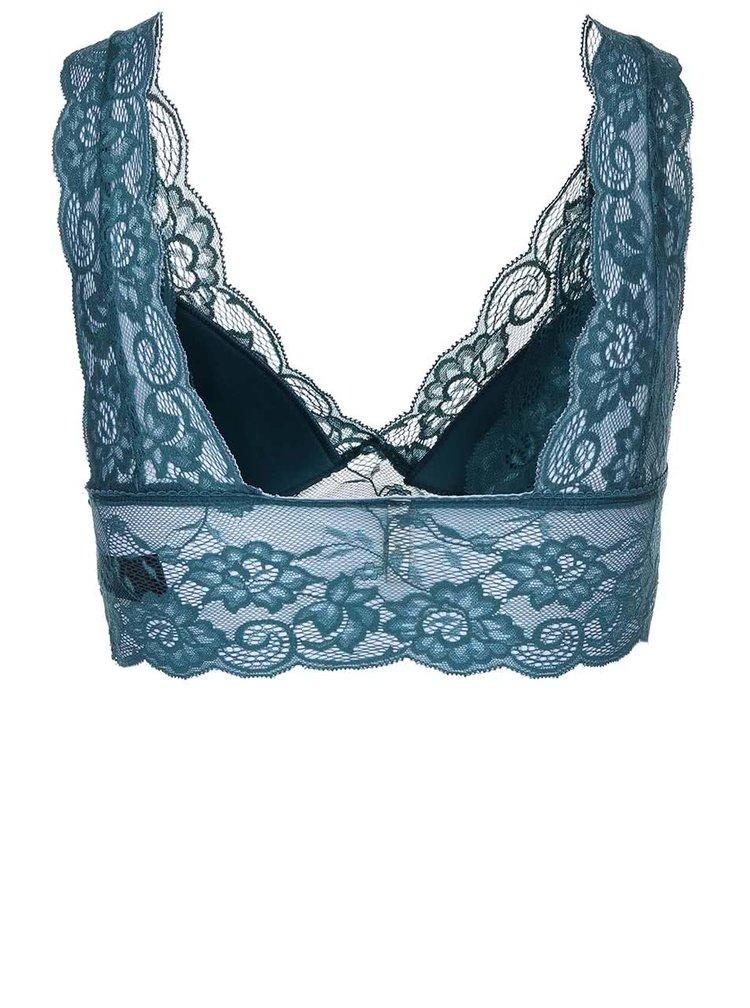 Sutien Pieces Kimara albastru cu dantelă