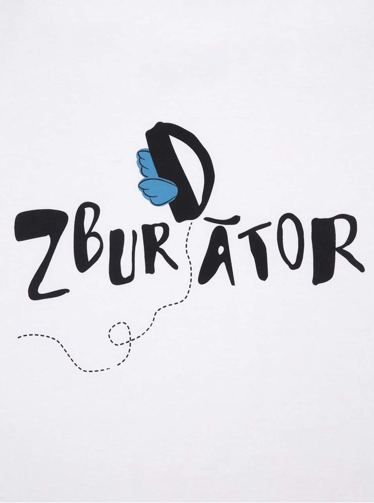 """Tricou ZOOT Original """"Zbur(d)ător"""", alb, pentru bărbați"""