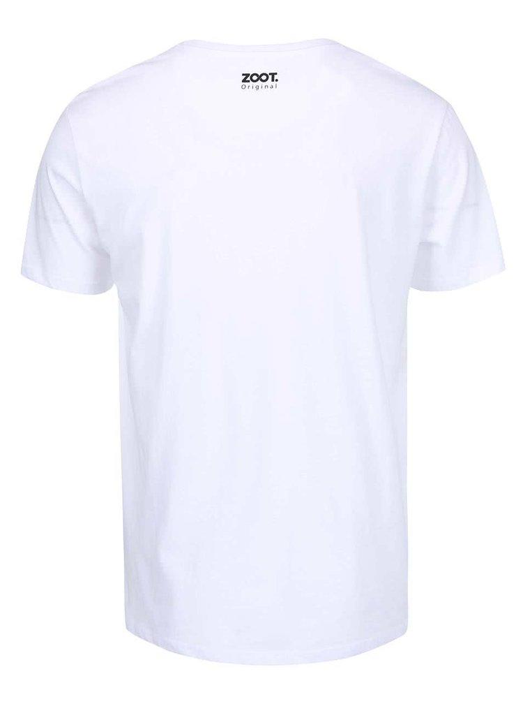 """Tricou  alb pentru bărbați ZOOT Original """"Self-Îndrăgosteala"""""""