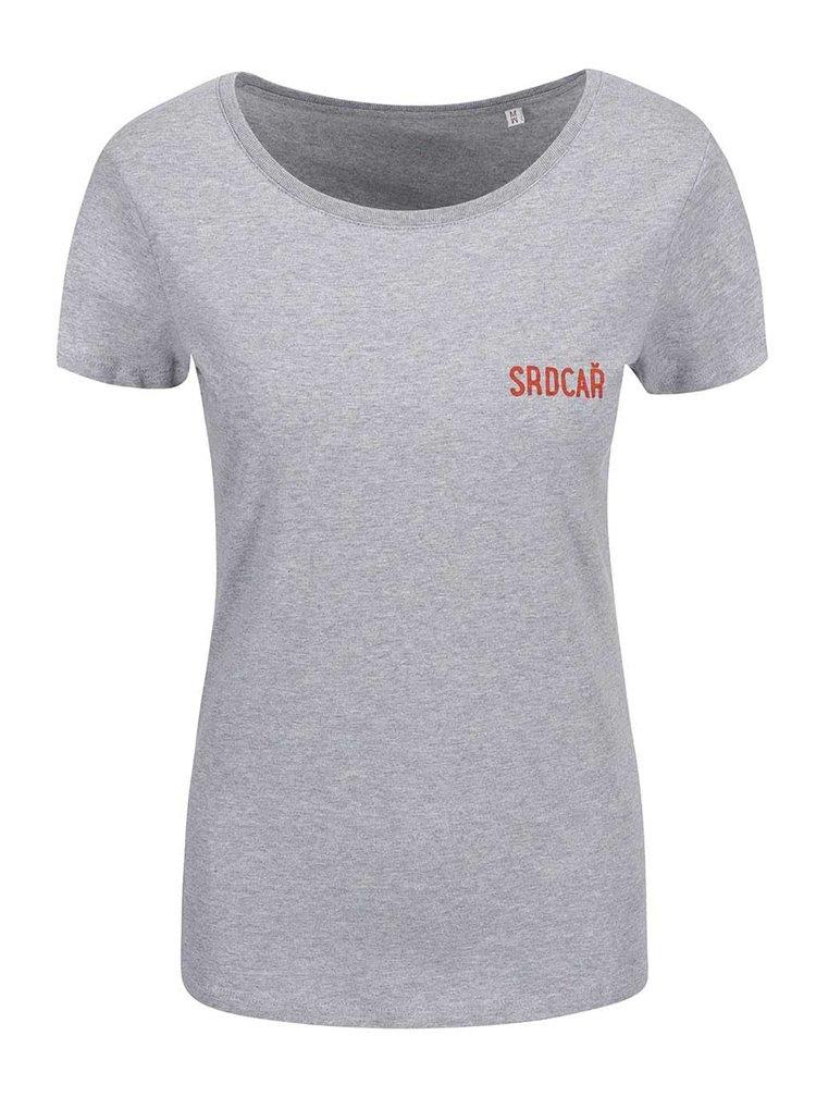 Sivé dámske tričko ZOOT Originál Srdcař