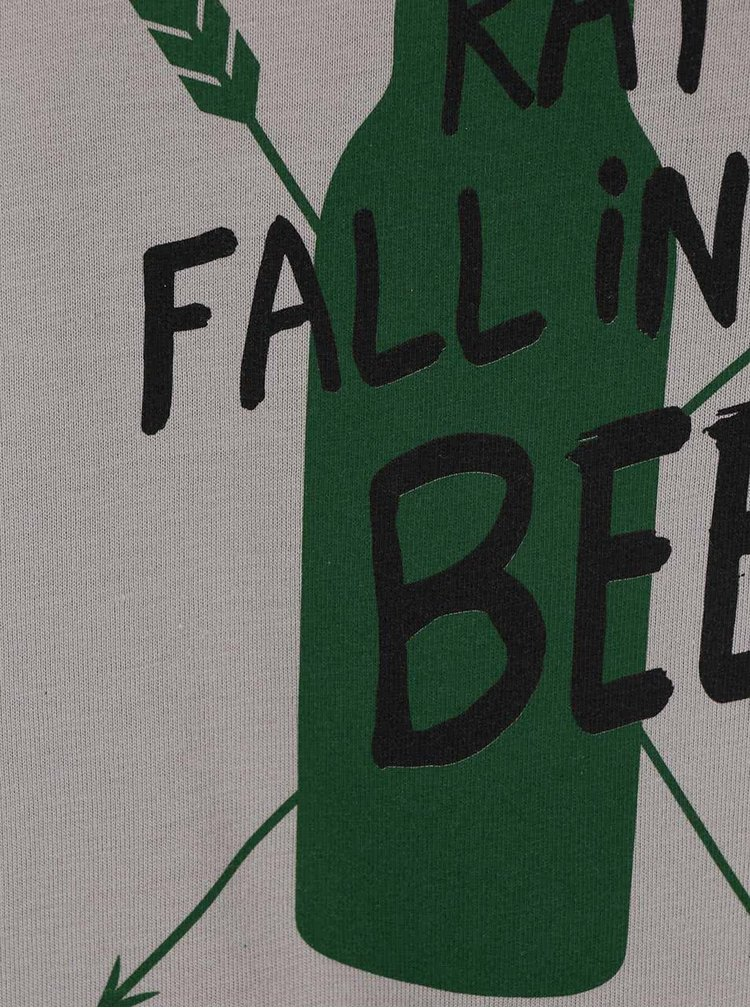 Sivé pánske tričko ZOOT Originál I Would Rather Fall In Beer