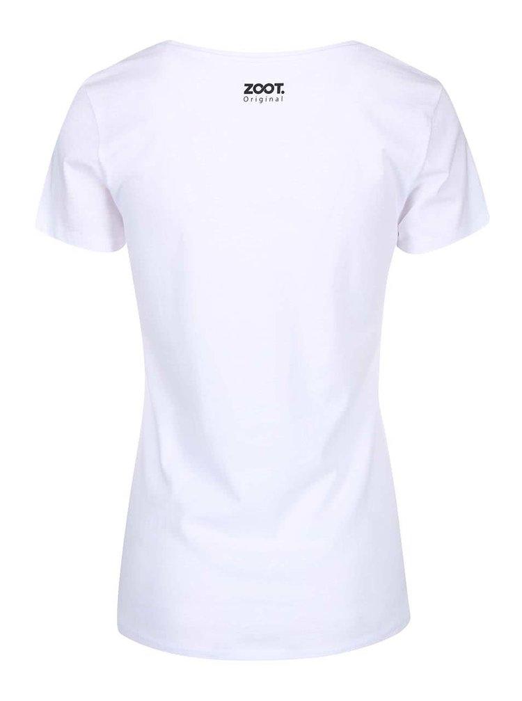 "Tricou  ZOOT Original ""lnchis pentru Valentine`s"" , alb, de damă"