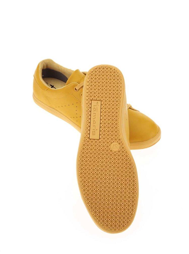 Pantofi sport culoarea muștarului Tamaris
