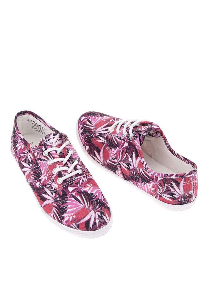 Ružové vzorované tenisky Tamaris