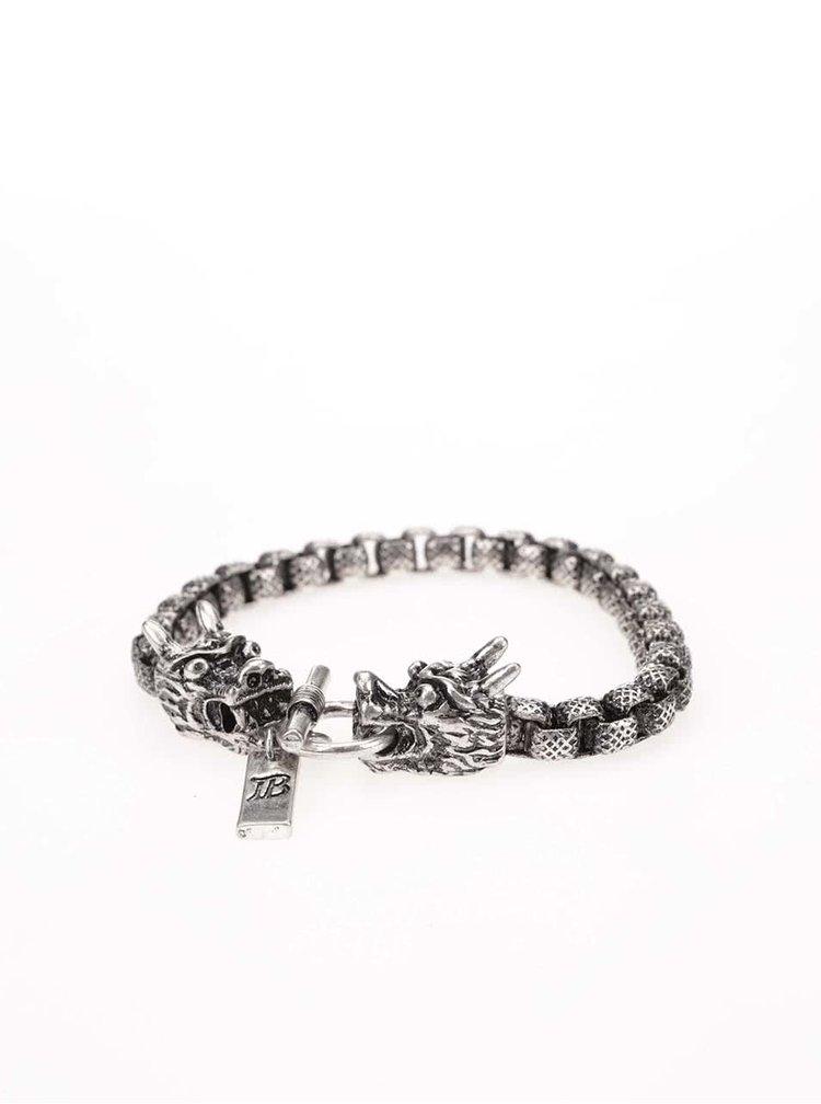 Brățară argintie Icon Brand Dragon Fire