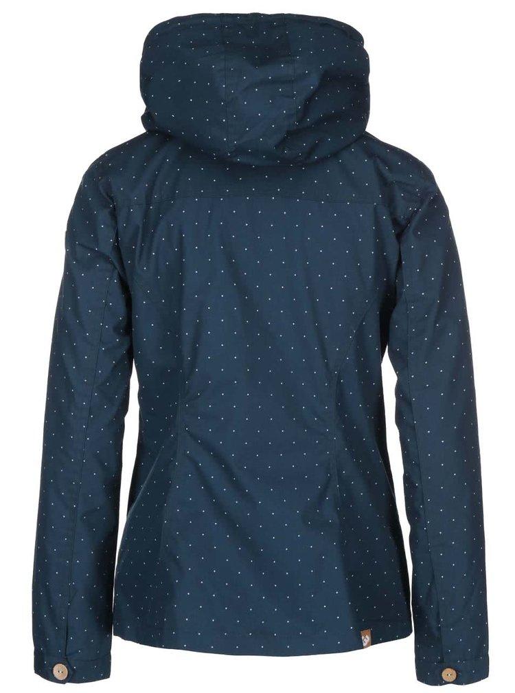 Petrolejová dámská bunda s tečkami Ragwear Lynx Dots
