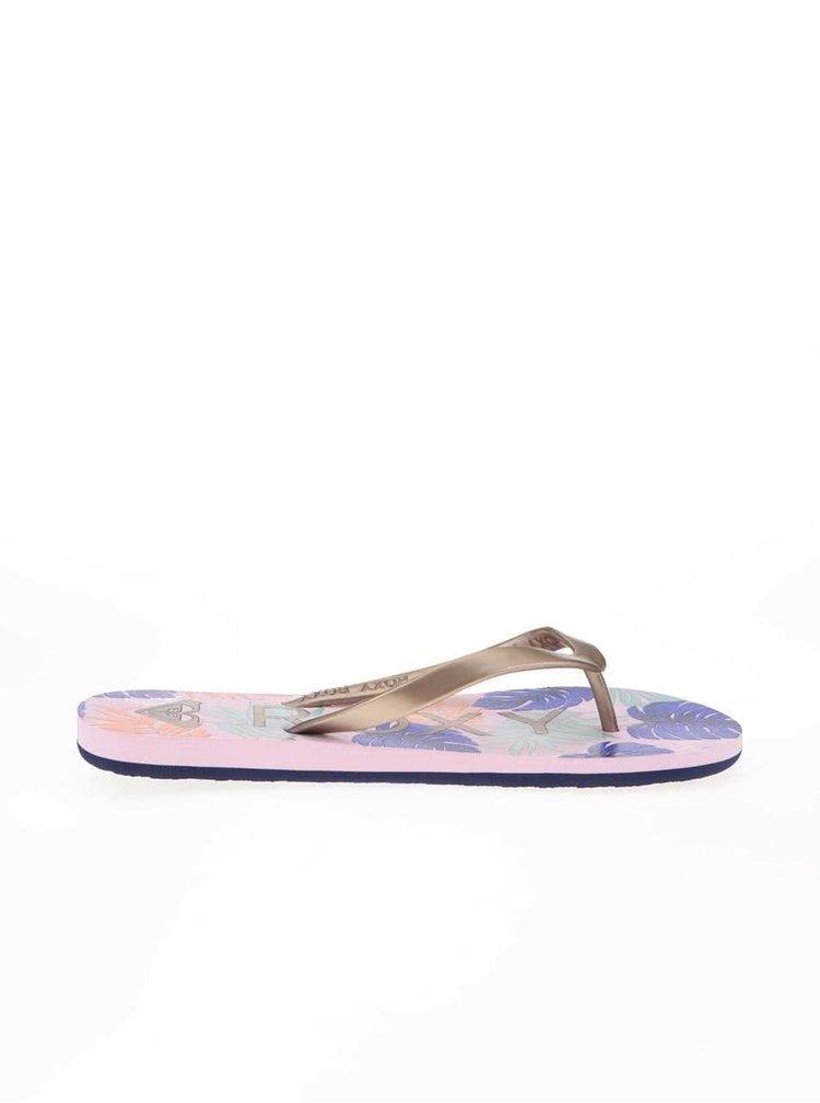 Papuci colorati cu imprimeu tropical Roxy Tahiti V