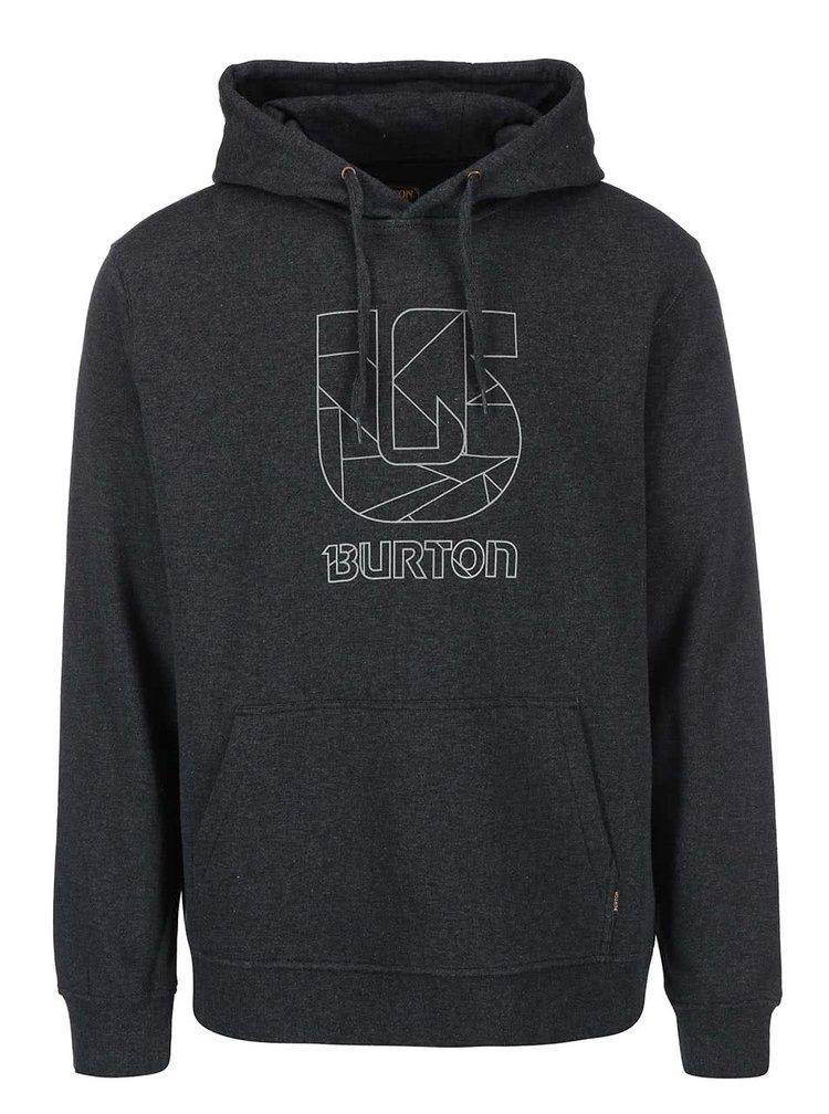 Hanorac barbatesc gri-inchis Burton Logo Vertical